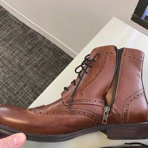 9de16c0fb Rockport Shoes | Mens Wyat Wingtip Boot Brown Size 12 | Poshmark